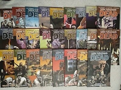 The walking dead graphic novel Collection 1-25 And Survivors' Guide