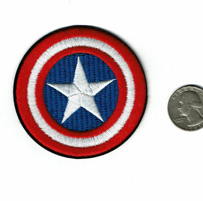 Captain America Shield Patch Iron on Full Embroidered patches free US shipping💥