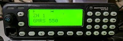 Motorola MCS2000 UHF 35 Watts 450-512 Mhz Model 3 Head  249 Channels TESTED GMRS