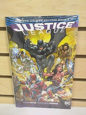 Justice League Rebirth Deluxe Edition Book 3 Hardcover New & Sealed HC