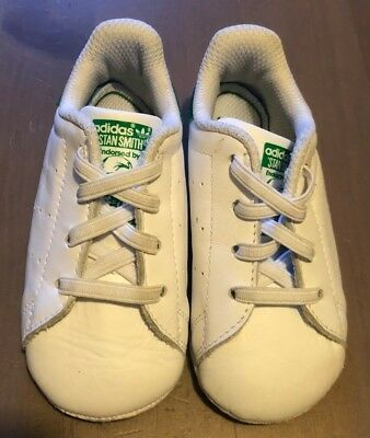 Adidas Toddler Stan Smith - White   Green Size 4K - Excellent Condition de67680997