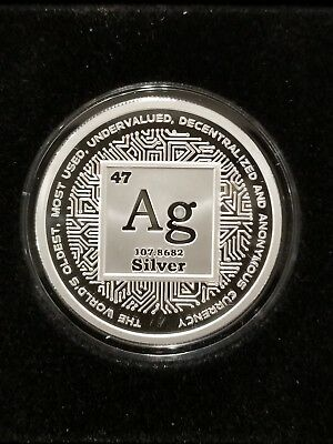 2018 1 OZ .999 SILVER SHIELD CRYPTO PROOF  AG the original decentralized money