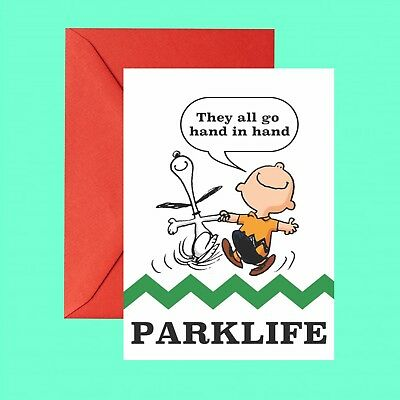 Blur Snoopy Peanuts Parklike Brit Pop Inspired Greetings Birthday Card