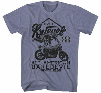 EVEL Men's Evel Jump Good Tee Sm Blue Heather EK5105S