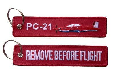 PC-21 Remove Before Flight Key Ring Luggage Tag