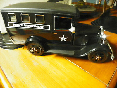 EXCELLENT BLACK POLICE PADDY WAGON Jim Beam Decanter in box *sealed top
