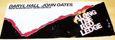 "Hall And Oats Rare Promo Plastic Window Poster ""along The Red Ledge"" Album 1978"