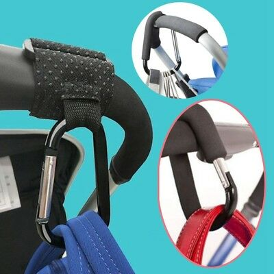 Hot Outdoor Shopping Pram Hooks Baby Stroller Bag Clip Carabiner Large Hangers