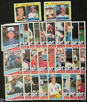 MONTREAL EXPOS 1985 Topps 30-Card Team Set from Vendor Boxes _ SMOKE-FREE