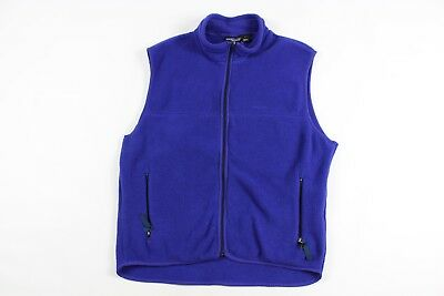 a0911a02a1b14 Vintage 90s Patagonia Mens Large Spell Out Full Zip Fleece Vest Blue  Polyester