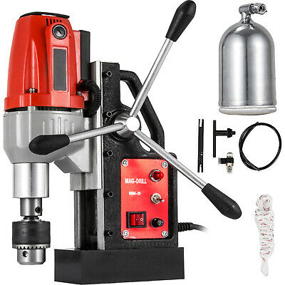"""980W BRM-35 Magnetic Drill Press 1-1/2"""" Boring 2250 LBS Magnet Force Tapping"""