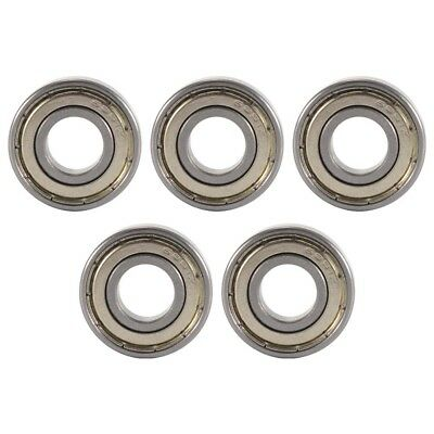 5pcs Sealed Shielded Metal Deep Groove Ball Bearing 6001zz 12 x 28 x 8mm BI1161