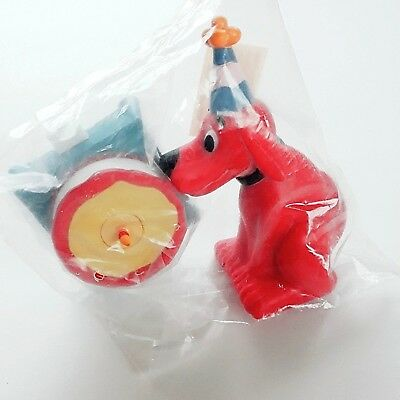 Clifford The Big Red Dog Birthday Cake Topper Decoration 2 Pc Set Bakery Crafts
