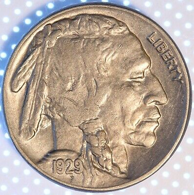 1929 S Buffalo Nickel, Uncirculated, Tough Semi-Key, First Year Issue!