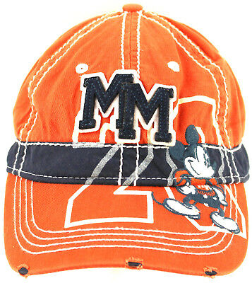 Disney Parks Mickey Mouse Baseball Cap Hat Distressed Look Fantastic Condition