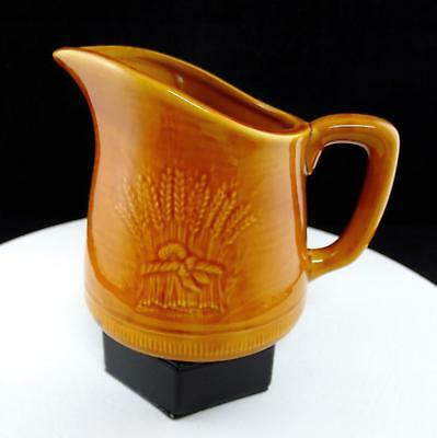 "Franciscan Usa Wheat Golden Brown Harvest 6 1/4"" Pitcher 1951-1957"