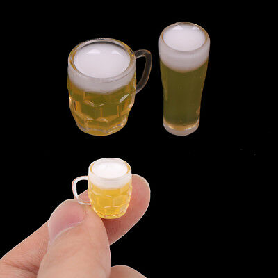2Pcs`1:12 beer dollhouse miniature toy doll food kitchen living room accessories
