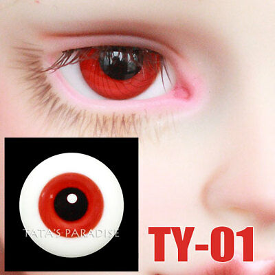 TATA glass eyes TY-01 16mm for BJD SD MSD 1/3 1/4 size doll use blood red