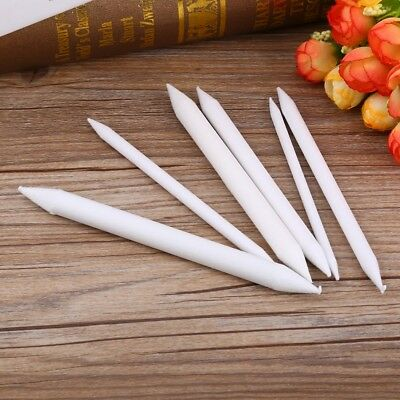 6Pcs Tortillon Sketch Art White Drawing Pen Rice Paper Charcoal Stationery Tool