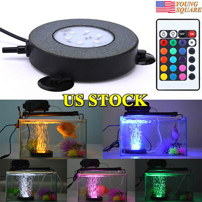 New Remote Control RGB LED Aquarium Light Fish Tank Lamp 16 Colors Changing US
