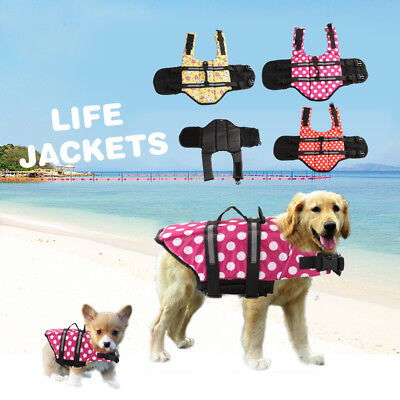 Pet Dog Summer Jacket Safe Clothes Saver Swimming Preserver Reflective Vest