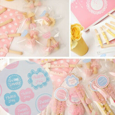 320Pcs Gift Box Baking Candy Package Stickers Seals Paper Tags Label DIY Acces