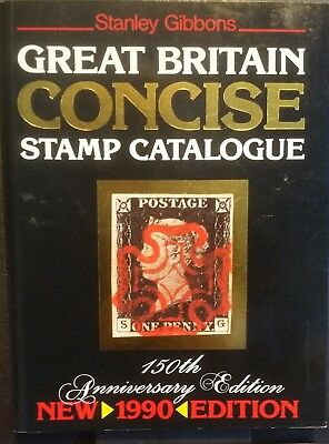 Stanley Gibbons Great Britain Concise Stamp Catalogue 1990 Ann Edition