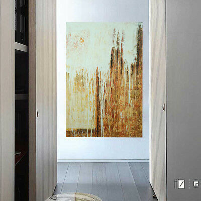 Modern Abstract Oil Painting Stretched Canvas Wall Art Home Decor (Framed)