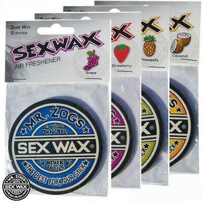 Genuine Mr Zogs Amazing Sex Wax Air Freshener - Surfboard T4 T5 Sup Wetsuit Surf