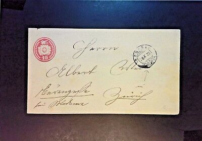 Switzerland 1875 10 Cent Postal Stationary Used - Z1173