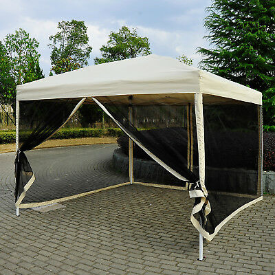 3 x 3m Gazebo Canopy Pop Up Tent Outdoor Garden Party Wedding Shade w/ Netting