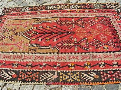 Fabulous Antique Awesome Primitive Collections Anatolian Distressed Kilim Rug