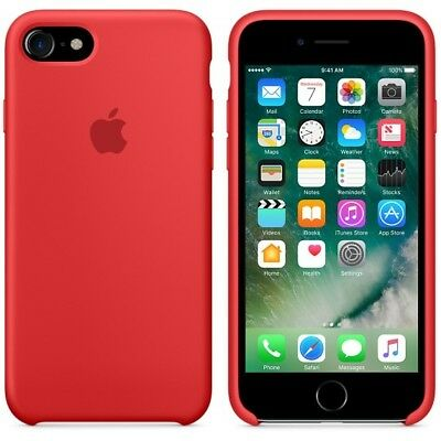 Genuine Apple iPhone 8 iPhone 7 Slim Silicone Case Cover Retail Packing - Red