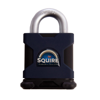 Henry Squire SS65S  Solid Steel Padlock Open Shackle Stronghold 65mm