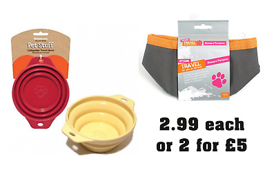 Rosewood Travel Collapsible Dog  Water Food Bowls Dishes