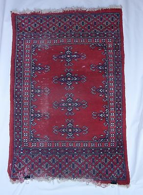 Antique Persian Wool Distressed Shabby Chic Hand Knotted Rug 2' x 3' Area