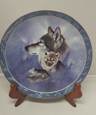 LImited Edition Collector Plate GOLDEN GENERATIONS-SPIRIT OF THE WILDERNES COA