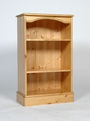 Low Narrow Solid Wood Pine Bookcase 2 Shelves Hand Waxed We Can Make Any Size