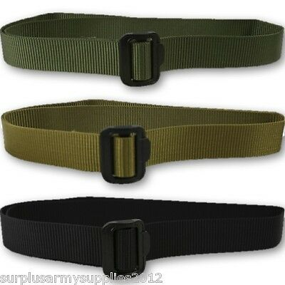 Military Tactical Webbing Fast Belt Extremely Tough Green Black Mens Army Police