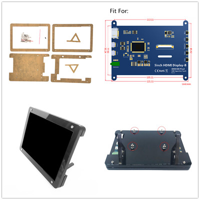 For 5 inch Raspberry Pi HD Capacitive LCD HDMI Display Touch Screen Case Stand