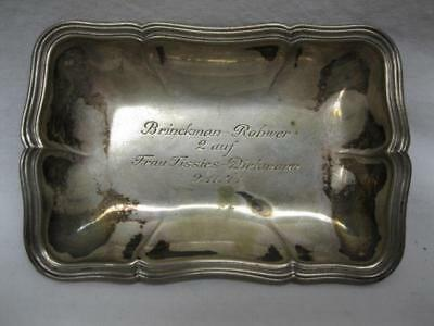 835 German Silver Tray Vtg Old Antique 1941 Presentation Signed 33 Grams