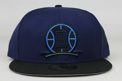 353e323e5b9fcb Los Angeles Clippers Collegiate Navy Black NBA New Era 59Fifty Fitted Hat  Cap