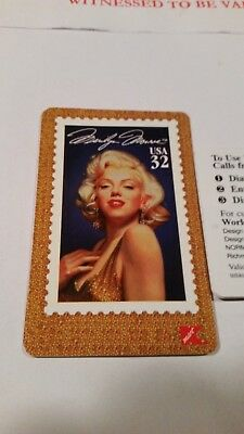 Marilyn Monroe Stamp Collectible Phone Card
