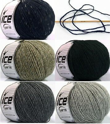 50g 3,50€/100g WOLLE Wool Cord Light ICE YARNS 50%Wolle 165m / 50g