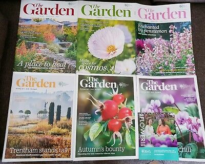 RHS The Garden Magazines July - December 2017 Issues