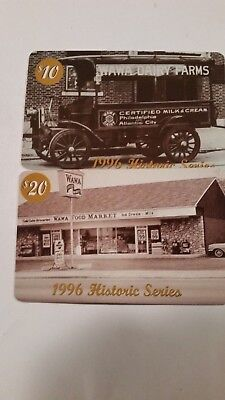 Set of 2 WAWA 1996 Historic Series Collectible Phone Cards