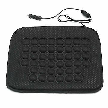 DC12V Black Car Heated Seat Chair Cushion Cover Hot Warmer Heating Pad
