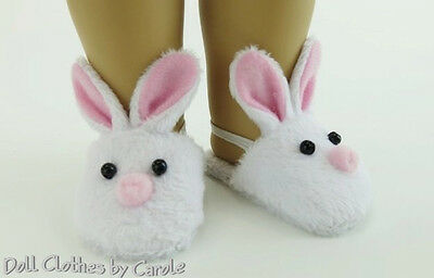 """Bunny Slippers fit 18"""" American Girl & Bitty Baby Doll - Shoes"""