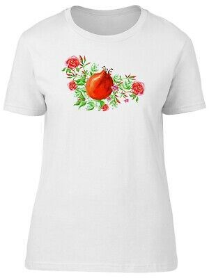 Watercolor Floral Pomegranate Women's Tee -Image by Shutterstock