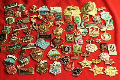 Collection USSR Soviet Russian Original Military Army Navy Pin Badges set 70 pcs